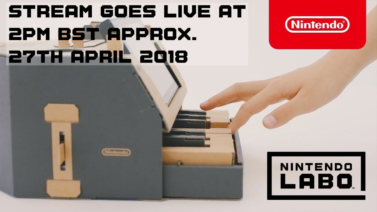 Nintendo Labo Lauch Stream Airs Friday