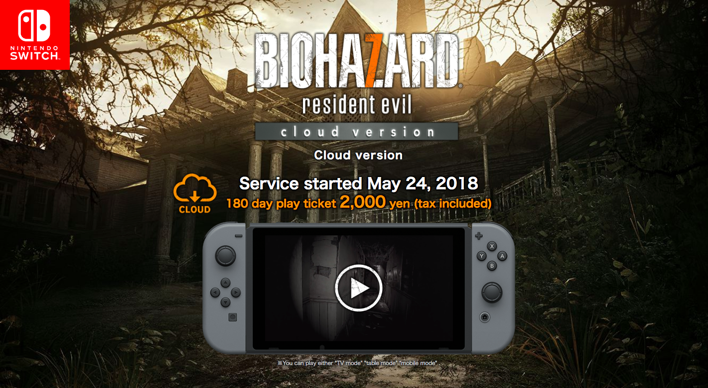 Resident Evil 7 Cloud Edition Announced For Switch