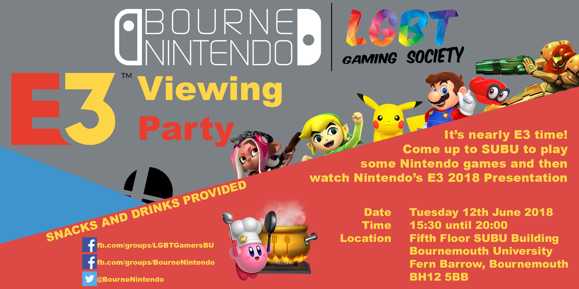 BourneNintendo – Nintendo E3 Viewing Party 2018