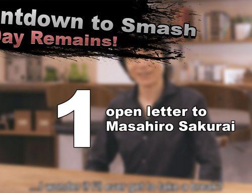 Countdown to Smash – An open letter to Masahiro Sakurai